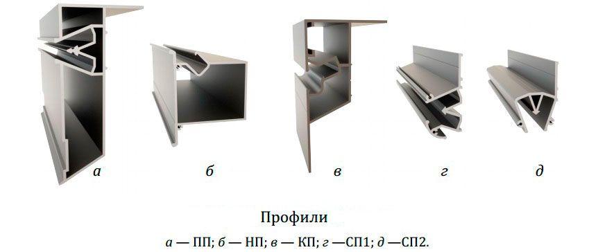 Алюминиевый багет для двухуровневых натяжных потолков